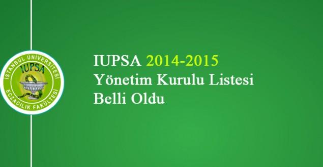 IUPSA 2014-2015 Yönetim Kurulu Listesi Belli Oldu