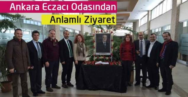 Ankara Eczacı Odasından Anlamlı Ziyaret