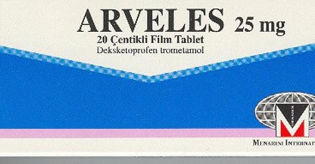 Arveles ağrı kesici, arveles ne için kullanılır