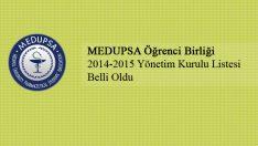 Medupsa 2014-2015 Yönetim Kurulu Belirlendi