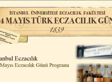 14 Mayıs Türk Eczacılık Günü Programı