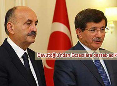 Davutoğlu'ndan Eczacılara destek açıklaması