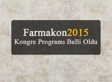 Farmakon2015 Kongre Programı Belli Oldu