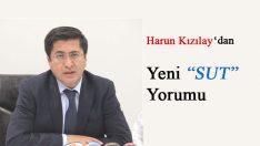 """Harun Kızılay'dan yeni """"SUT"""" Yorumu"""