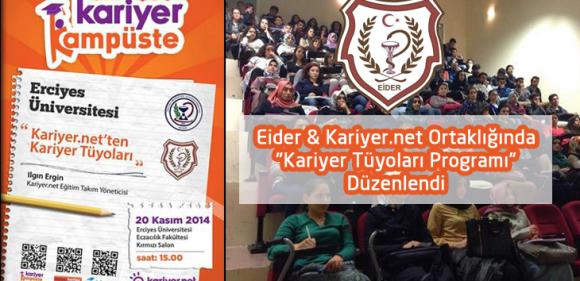 """Eider & Kariyer.net Ortaklığında """"Kariyer Tüyoları Programı"""" Düzenlendi"""