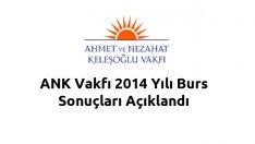 ANK Vakfı 2014 Yılı Burs Sonuçları Açıklandı