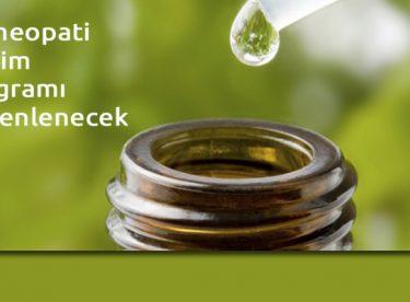 Homeopati Eğitim Programı Düzenlenecek