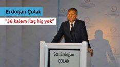 Erdoğan Çolak: İlactaki kişi başı harcama komik bir rakam