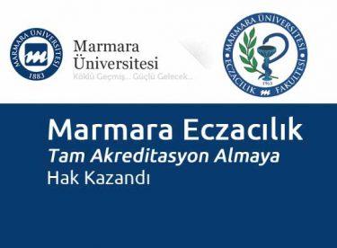 Marmara Eczacılık Tam Akreditasyon Almaya Hak Kazandı
