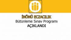 İnönü Eczacılık Bütünleme Sınav Programı 2015