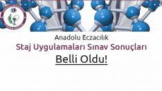 Anadolu Eczacılık Staj Uygulamaları Sınav Sonuçları Belli Oldu