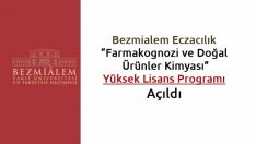 Farmakognozi ve Doğal Ürünler Kimyası Yüksek Lisans Programı Açıldı