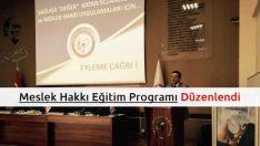 Eczacılık Meslek Hakkı Eğitim Programı Düzenlendi