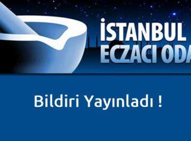 İstanbul Eczacı Odası FOX TV için bildiri yayınladı