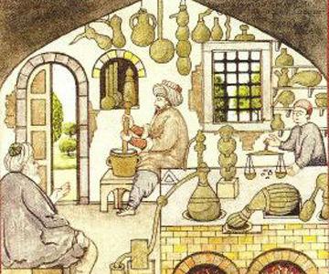 Preparing-medicine-in-Ottoman-times