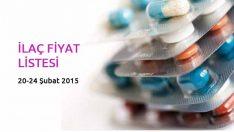 20 Şubat-24 Şubat 2015 İlaç Fiyat Listesi