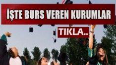 İstanbulda burs veren kurumlar