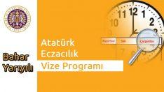 Atatürk Eczacılık 2015 Bahar Dönemi Vize Programı