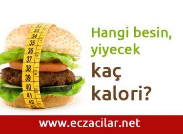 Hangi besin, yiyecek kaç kalori?