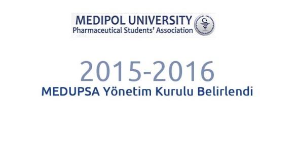 2015-2016 MEDUPSA Yönetim Kurulu Belirlendi