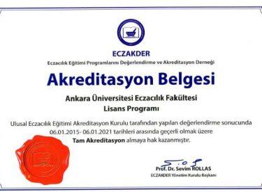 Ankara Eczacılık Akredite Oldu